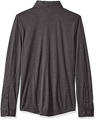 Calvin Klein Men's Long Sleeve Snap Front Commuter Shirt with Pocket
