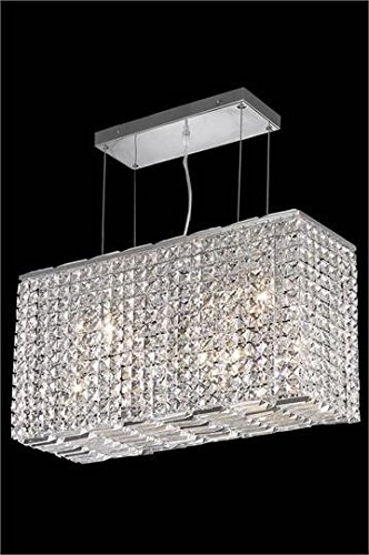 (Chantal Chrome Contemporary 8-Light Hanging Chandelier Heirloom Handcut Crystal in Crystal (Clear)-6903D26C-RC--9