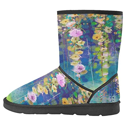 InterestPrint Womens Snow Boots Unique Designed Comfort Winter Boots Multi 30 ajyY4x1