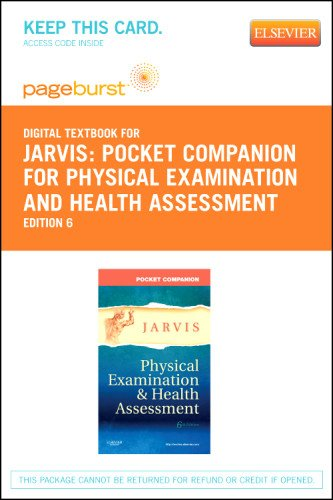 Pocket Companion for Physical Examination and Health Assessment - Elsevier eBook on VitalSource (Retail Access Card), 6e by Saunders