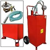 30 gallon gas tank - 30 Gallon Gas Caddy Storage Tank Drum Barrel Gasoline Fluid Diesel Carrier Pump