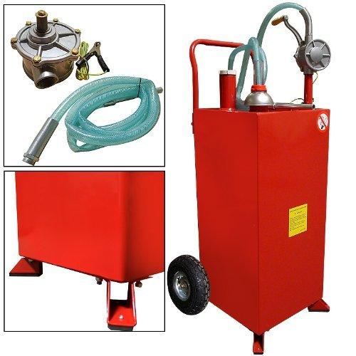 30 Gallon Gas Caddy Storage Tank Drum Barrel Gasoline Fluid Diesel Carrier (Gas Caddy)