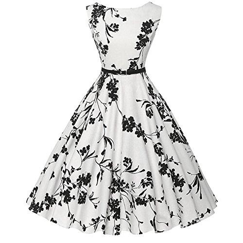 Killreal-Womens-Elegant-A-Line-Vintage-Spring-Cocktail-Swing-Dress-with-Belt