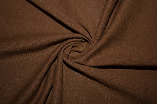 Cotton Lycra Jersey Knit Solid 2-Way Stretch 95% Cotton 5% Spandex Soft Fabric By The Yard - Fabric Brown Knit