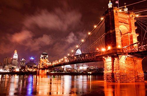 Art Matte Giclee (Prestige Art Studios The Roebling Bridge Cincinatti Artwork)
