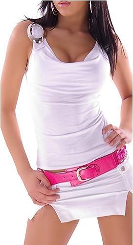 Donne camicia della parte superiore della cascata Uni Trendy fibbia decorativa Hip-carrier 36,38,40,42.