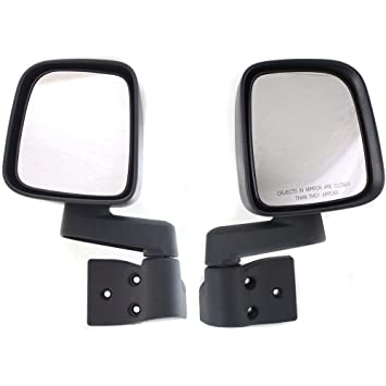 Side View Mirror Power Heated Textured Black Driver Left LH for Jeep Wrangler