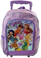 "Disney Fairies Princess Tinker Bell 16"" Rolling Backpack / Roller"