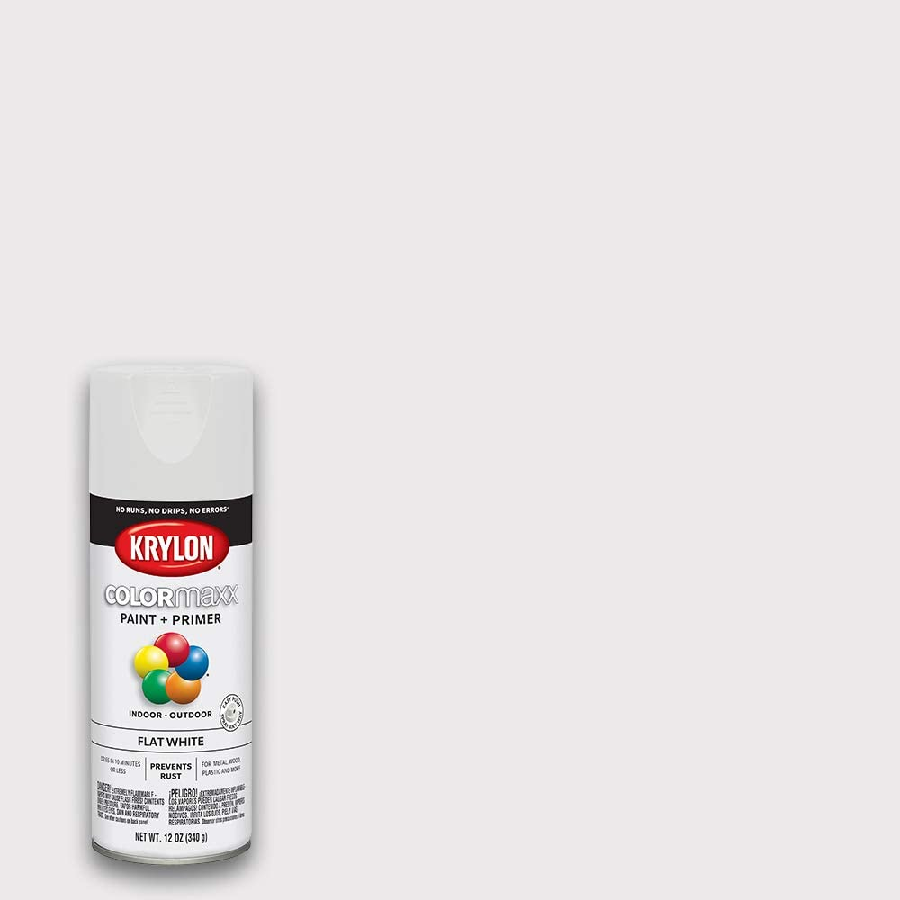 Krylon K05548007 COLORmaxx Spray Paint, Aerosol, White