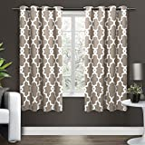 Exclusive Home Curtains Ironwork Sateen Woven Blackout Window Curtain Panel Pair with Grommet Top, 52x63, Taupe, 2 Piece