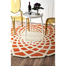nuLOOM 200ACR138B-606R Handmade Abstract Round Rug