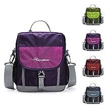 OutdoorMaster Crossbody Bag - Lightweight Shoulder Bag for Travel & Work (Purple)