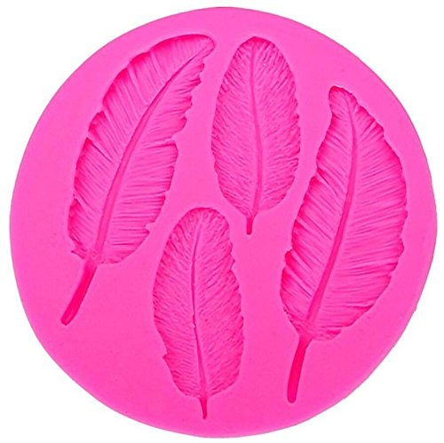 Cavities Candy 4 Mold - 4 Cavities Feather Silicone Mold Silicone Feather Cake Cupcake Backing Mould Fondant Mold