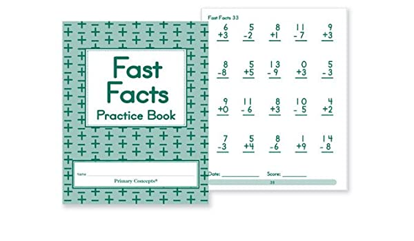 Amazon com: Primary Concepts AA4590 Fast Facts Practice Books (Set