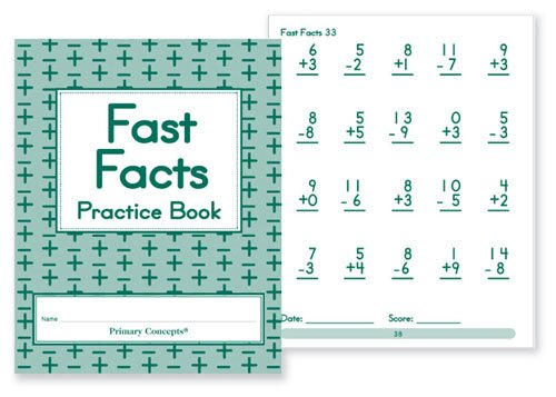 Primary Concepts AA4591 Fast Facts Practice Books (Set of...