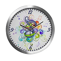 Modern Wall Clock Music Note Colorful Burst