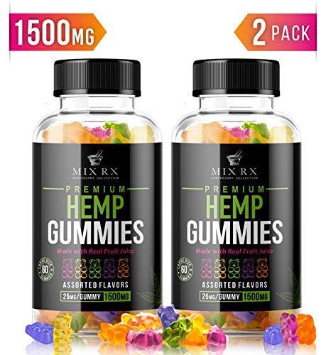 Maxibears Hemp Gummies - 2250 MG, 90 pcs - 25 MG Gummy Bear - Yummy Tasting & Relaxing - Made in The USA - Relief for Stress, Pain, Sleep, Anxiety - Vitamin E &Vitamin B & Omega 3, 6, 9