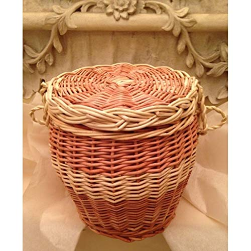 Wicker, Willow, Biodegradable Funeral Urn - for Eco Friendly Human Cremation Ashes Ground Burial - Adult Size - Autumn Gold Brown & Cream