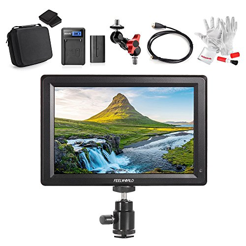 Feelworld F7 7 Inch IPS Full HD 1920x1200 On Camera Field Monitor Supports 4K HDMI Input/Output 1200:1 High Contrast 450cd/m2 High Brightness 160 Wide Viewing Angle - Full Accessory Kit by FEELWORLD
