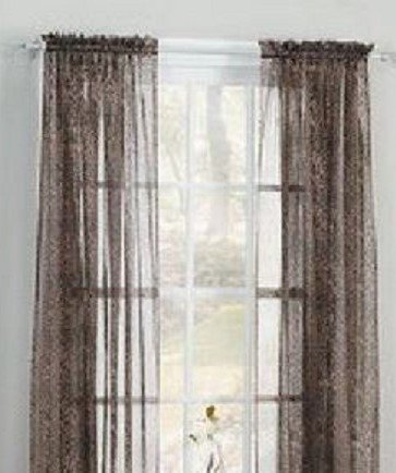 GorgeousHomeLinenDifferent Solid Colors 2 PC Rod Pocket Sheer Window Curtains Treatment Drape Voile Elegant Panels 55