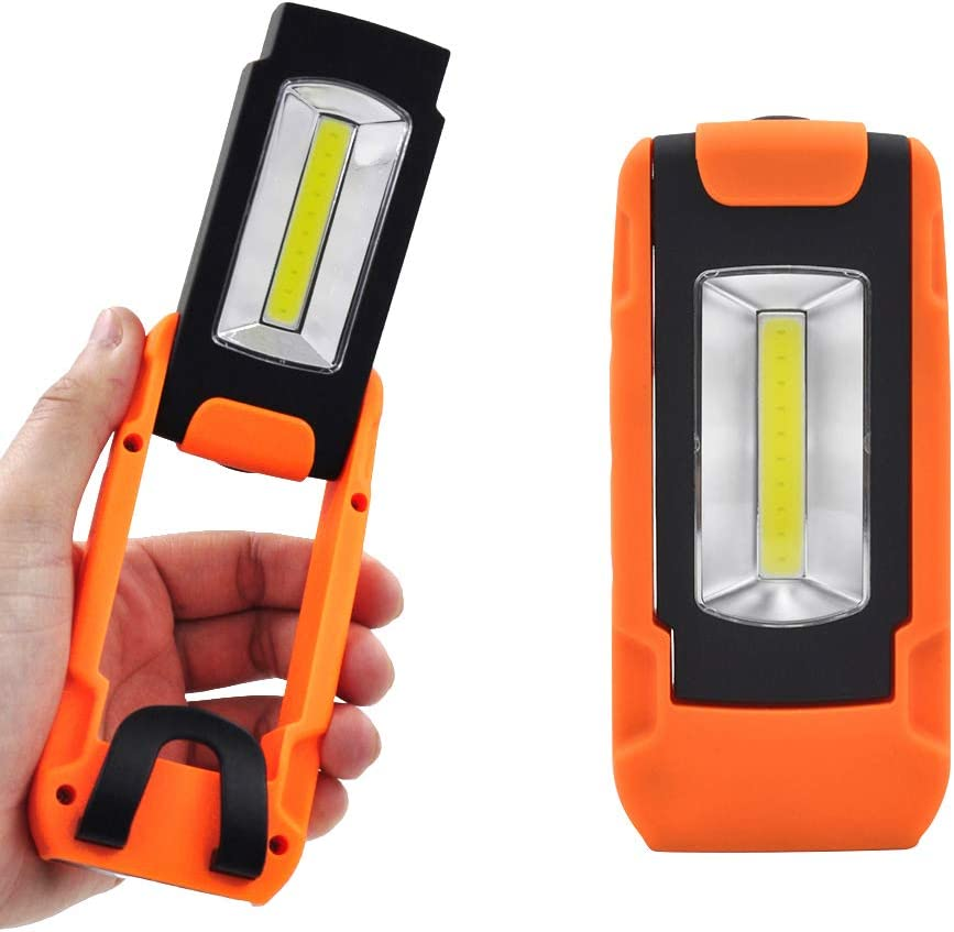 COB LED Pen Light Inspection Lamp Pocket Work Torch Magnetic Flashlight U9N5