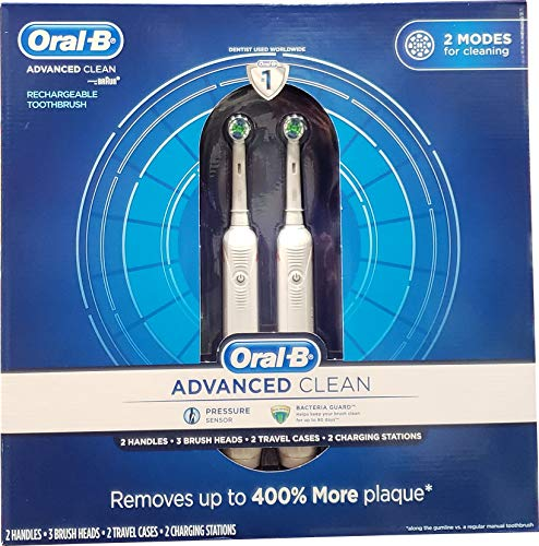 Oral B Advanced Clean Toothbrushes, 2 - Dual Oral Clean Be