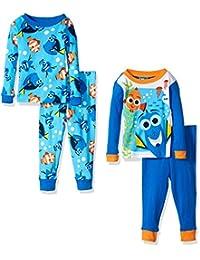 Disney Boys' Finding Dory 4-Piece Cotton Pajama Set