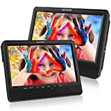 WONNIE 9.5'' Dual Screen DVD Player Portable Car Headrest DVD Players, Great Gifts