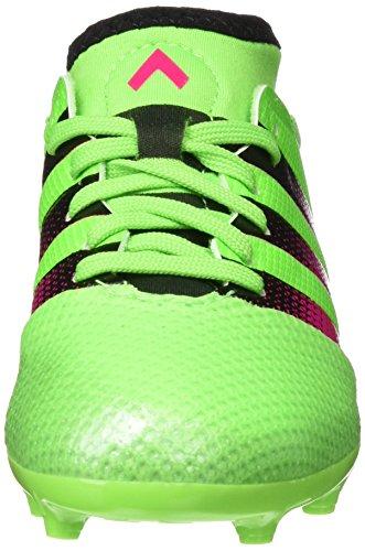 adidas Ace 16.3 Primemesh Fg/Ag J, Botas de Fútbol Unisex Bebé Verde / Rosa / Negro (Versol / Rosimp / Negbas)