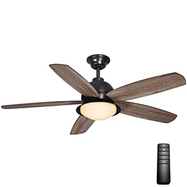 Home Decorators Collection Ackerly 52 in. LED Indoor Outdoor Natural Iron Ceiling Fan with Light Kit and Remote Control