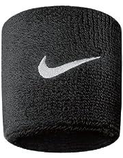 Nike Swoosh N.NN.04.010.OS - ett par manschetter, unisex, svart (svart/vit)