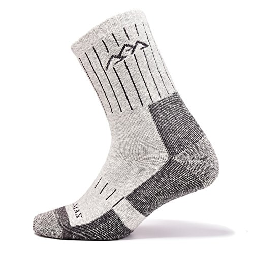 SUDILO Crew Cushion Hiking Trekking Socks,Coolmax Multi Performance Antiskid Wicking Outdoor Athletic Socks by SUDILO (Image #1)