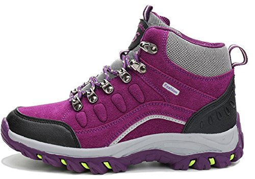 Jiye Outdoor Shoes Womens And Mens Climbing In Esecuzione Paio Scarpe, Scarpe Da Trekking Viola