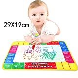 Cinhent Toys Kids Boys Girls 4 Colors Water Drawing Painting Writing Mat Board And Magic Pen Doodle For Expand Baby's Imagination With Bright Colors 29X19 CM