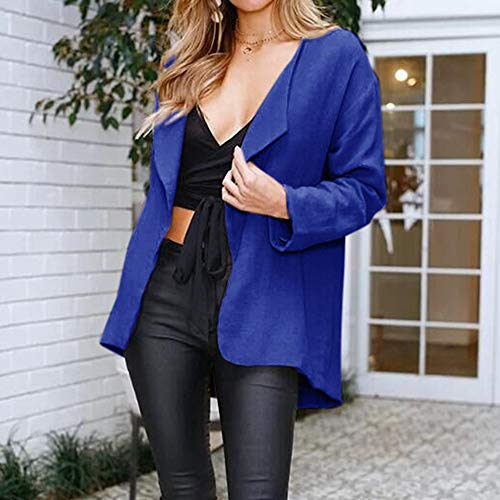 Solid Coat Women Open Cardigan Long Womens Sleeve Jacket Kimono Loose Jersh Casual Tunic Blue Outerwear Brief Charming Cape BRIxqwxd