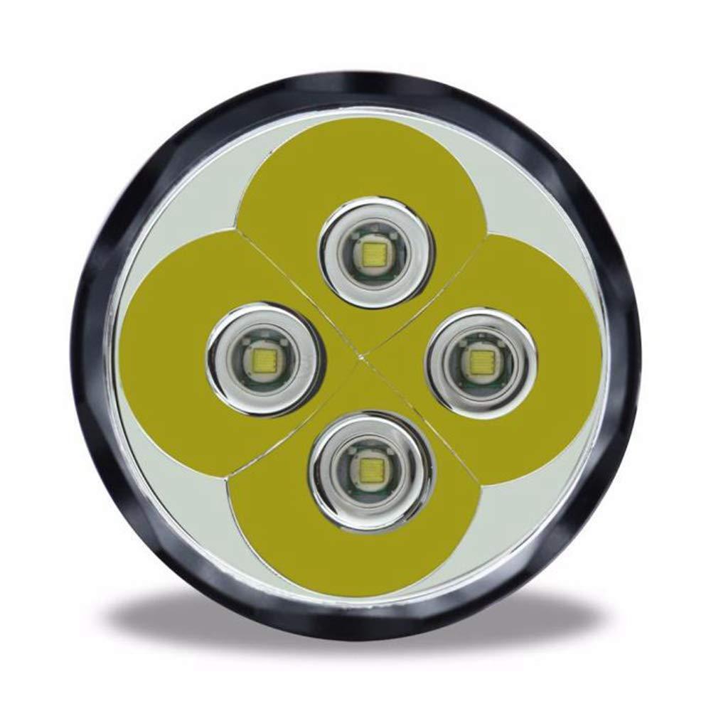 Linterna Táctica LED Alta Potencia, Yusealia 11x XML T6 5 Modo Linterna de La Antorcha,Linterna Super Brillante,28000 Lumens Linternas Táctica para Ciclismo ...