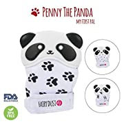 Baby Teething Mitten Teether Toy, Boy/Girl- Pain Reliever Glove, Prevent Scratches & Chewing-Safe Food Grade Silicone BPA FREE-Unisex 3-12 Months-PENNY THE PANDA -Newborn mittens Ideal Gift