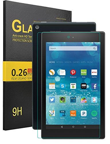 Das neue Fire HD 8 Displayschutzfolie, KuGi ® Das neue Fire HD 8 Displayschutzfolie - Hohe Qualität 9H Härte HD gehärtetem Glas Displayschutzfolie für Das neue Fire HD 8 Tablet-PC.(1 Packung)