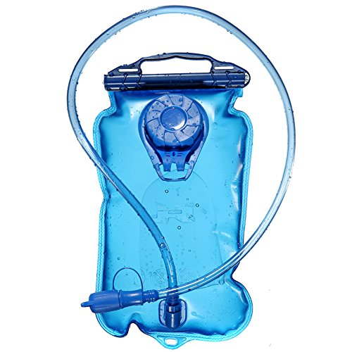 Hydration Bladder Water Reservoir Pack with Tube for 3 Liter Backpack System (Cycling, Climbing, Hiking). Large Opening Easy to Clean, BPA Free(Blue, 2L / 100 Oz)