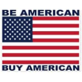 AK Wall Art Be American Buy American Vinyl Sticker - Car Window Bumper Laptop - Select Size