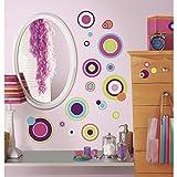 RoomMates RMK2245SCS - Adhesivos decorativos para pared, diseño de lunares, solo despega y pega