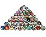 Assorted Multicolor Ceramic Drawers Knobs Door Cupboard Pulls Indian Mix Knobs