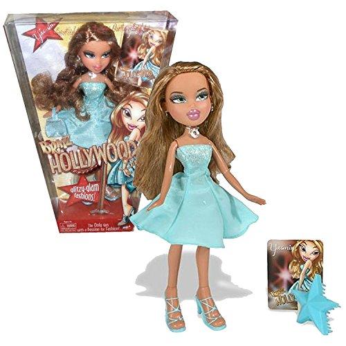 MGA Entertainment Bratz Hollywood Series 10 Inch Doll - YASMIN with Handbag and Star-Shaped Hairbrush ()