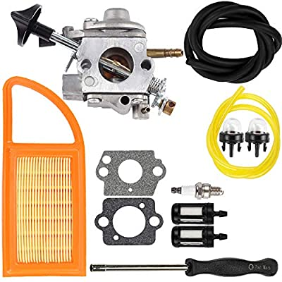 Dalom BR 600 Carburetor Air Filter Fuel Carb Repower Kit for Stihl BR500 BR550 BR600 Backpack Blower Leaf Blower Parts Replaces Zama C1Q-S183 4282-120-0606 4282-120-0607 4282-120-0608