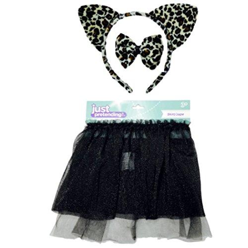Ninja Dog Halloween Costumes (Cute Leopard Halloween Costume Glittery Skirt, Headband, Bowtie, Tail)
