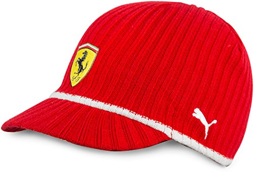 Puma Ferrari Logo Knitted Beanie Cap - Red - Buy Online in KSA. Sporting  Goods products in Saudi Arabia. See Prices d38f7736dc6