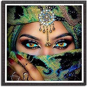 5D DIY Diamond Painting Kit Full Diamond Women People Cross Stitch Wall Stickers Home Decoration 30x30cm