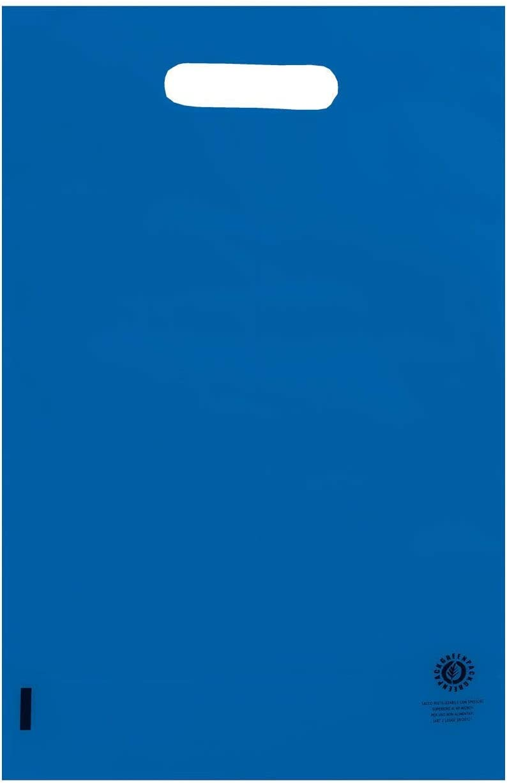 14+8x30 colore rosso EUROFIDES/® 200 Shopper Plastica con soffietto cm