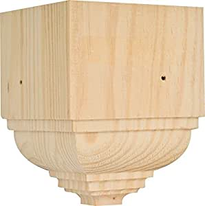 Solid pine miterless outside corner block for crown for Miterless crown moulding