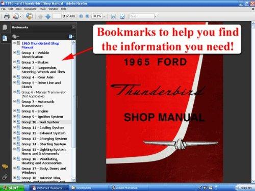 1965 ford thunderbird shop manual ford motor company david e rh amazon com 1966 Ford Thunderbird 1967 Ford Thunderbird